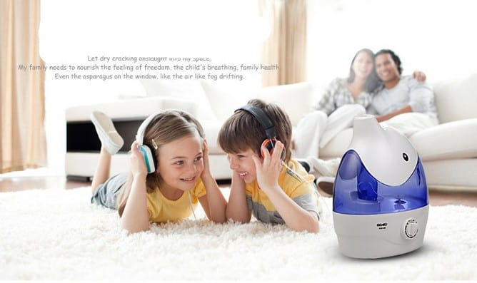 Baby with Air Purifier