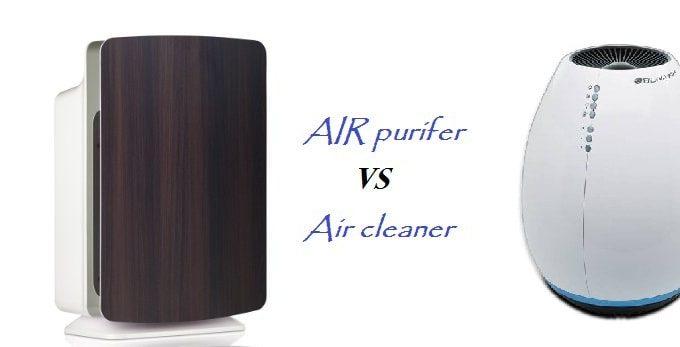 air purifier vs air cleaner