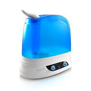 SereneLife PSLHUM80 Ultrasonic Humidifier, Warm/Cool Mist Moisture with Built-In Night Light