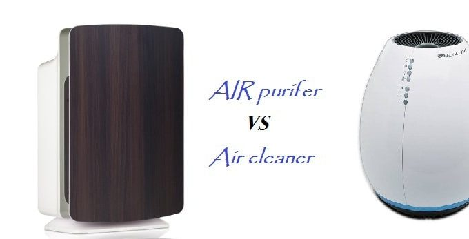 air purifier vs air cleaner